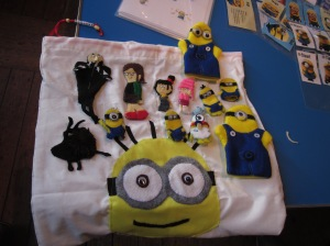 Amazing Minion puppets and storysack created by a learner in Staveley!